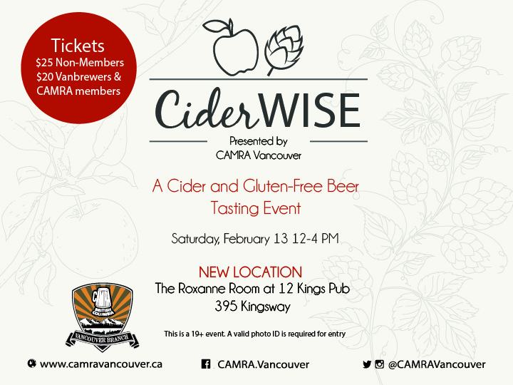 CiderWise – CAMRA Vancouver – SOLD OUT!