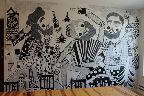 mural at doans- chelsea
