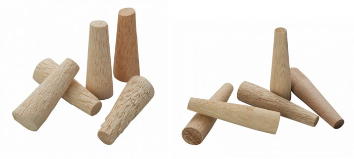 Soft spiles (often bamboo or softwood) and hard spiles (typically beech)