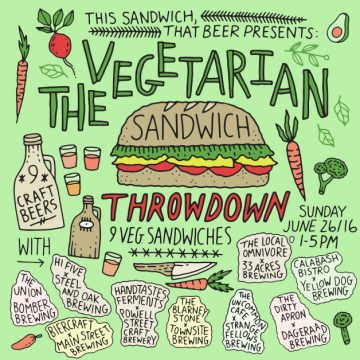 This Sandwich, That Beer Throwdown - Veggie Style @ The Portside Pub   Vancouver   British Columbia   Canada