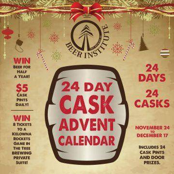 Tree Brewing Cask Advent Calendar @ Tree Brewing Beer Institute        