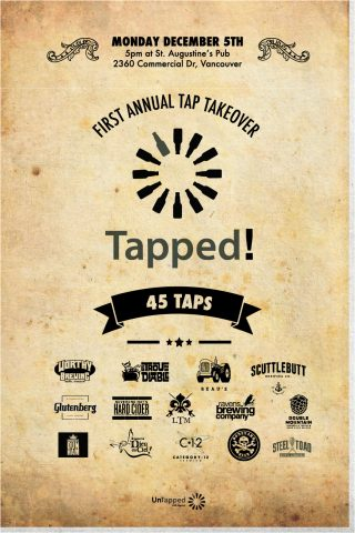 Tapped! - UnTapped 45 Tap Takeover @ St. Augustines Pub   Vancouver   British Columbia   Canada