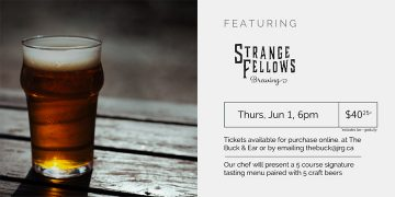 Strange Fellows Brewing Pairing Dinner @ The Buck & Ear Bar and Grill |  |  |