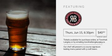 5 Course R&B Brewing Craft Beer Pairing Dinner @ Townhall Public House Langley |  |  |