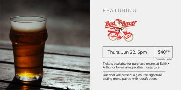 5 Course Red Racer Beer Pairing Dinner @ Edith + Arthur Public House |  |  |