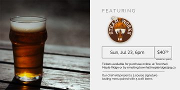 5 Course Steamworks Beer Pairing Dinner @ Townhall Public House Maple Ridge        