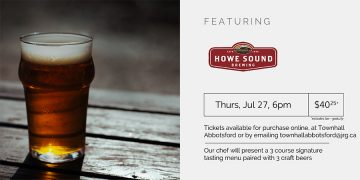 3 Course Beer Pairing Dinner ft. Howe Sound Brewing @ Townhall Public House Abbotsford |  |  |