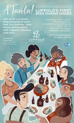 A Tavola! Luppolo's First Pairing Beer Pairing Dinner @ Luppolo Brewing Company |  |  |
