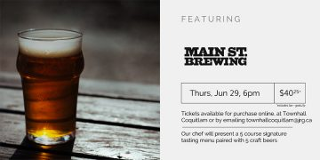 5 Course Main St. Brewing Beer Pairing Dinner @ Townhall Public House Coquitlam |  |  |
