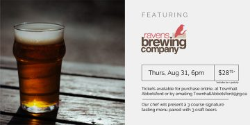3 Course Beer Pairing Dinner ft. Ravens Brewing @ Townhall Public House Abbotsford |  |  |