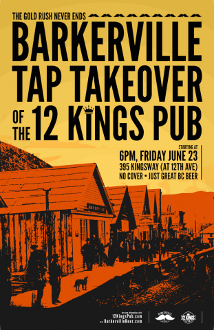 Tap Takeover: Barkerville Brewing @ 12 Kings Pub |  |  |
