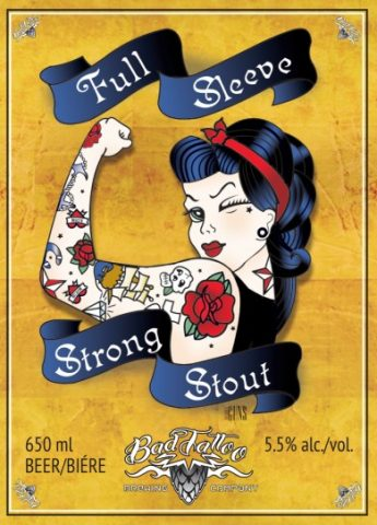 Full Sleeve Strong Stout Label image