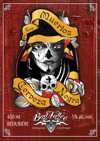Los Muertos Cervaza Negra Label Art Image