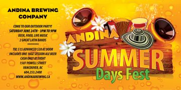 Andina Summer Days Fest @ Andina Brewing Company | Vancouver | British Columbia | Canada