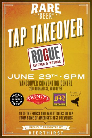 Rare Beer Tap Takeover @ Rogue Kitchen & Wetbar - Convention Centre |  |  |