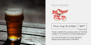 5 Course Red Racer Beer Pairing Dinner @ Townhall Public House Langley |  |  |
