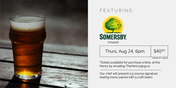 5 Course Somersby (+more!) Pairing Dinner @ The Henry Public House |  |  |
