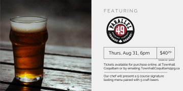 5 Course Parallel 49 Beer Pairing Dinner @ Townhall Public House Coquitlam |  |  |