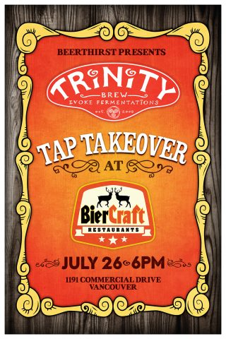 Trinity Tap Takeover @ BierCraft | Vancouver | British Columbia | Canada