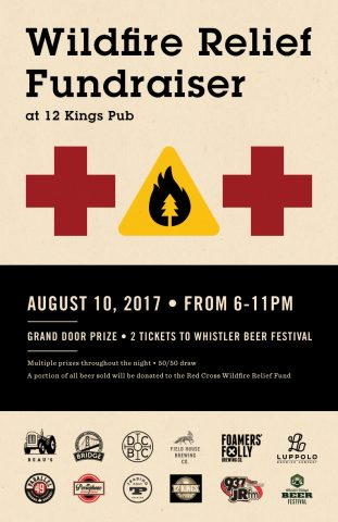 Fundraiser for Wildfire Relief @ 12 Kings Pub | Vancouver | British Columbia | Canada