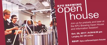 KPU Brewing Open House @ KPU Brew Lab |  |  |