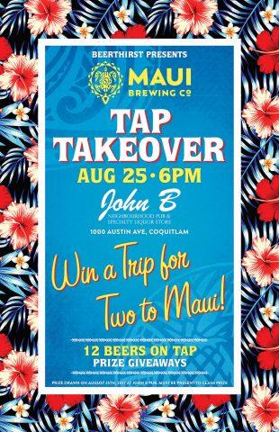 Maui Tap Takeover & Trip Giveaway @ John B Neighbourhood Pub | Coquitlam | British Columbia | Canada