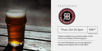 5 Course R&B Brewing Co. Pairing Dinner @ The Henry Public House |  |  |