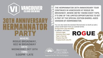 VI Brewing Hermannator Party-Vancouver @ Rogue Kitchen & Wetbar - Broadway | Vancouver | British Columbia | Canada