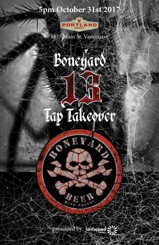 Boneyard Brewing Halloween Tap Takeover!! @ Portland Craft |  |  |