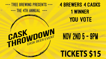 The 4th Annual Cask Throwdown @ The Tree Brewing Beer Institute         
