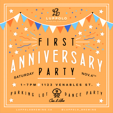 Luppolo's 1st Anniversary Party! @ Luppolo Brewing Compay        