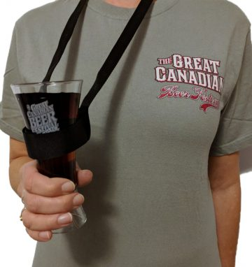 Beer festival lanyard with tasting glass