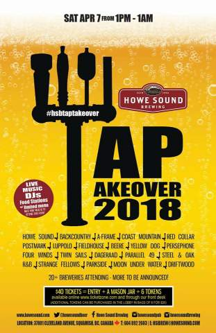 Howe Sound Brewing's Tap Takeover 2018 @ Howe Sound Brewing