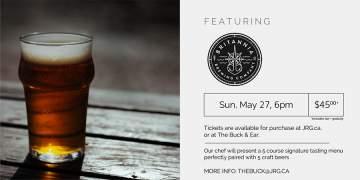 5 Course Britannia Beer Pairing Dinner @ The Buck & Ear Bar and Grill | Richmond | British Columbia | Canada
