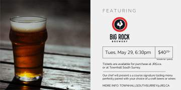 4 Course Big Rock Brewery Beer or Wine Pairing Dinner @ Townhall Public House South Surrey | Surrey | British Columbia | Canada