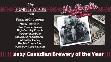 Mt. Begbie - Tap Takeover @ The Train Station Pub