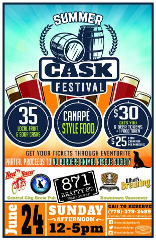 Central City's Summer Cask Festival @ Central City Brew Pub | Vancouver | British Columbia | Canada