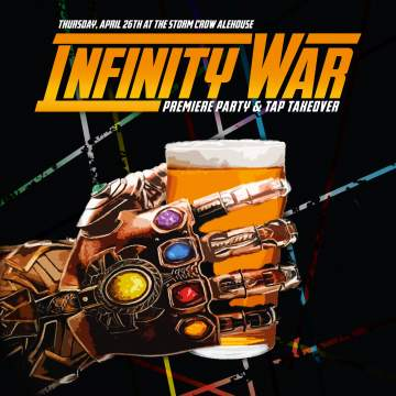 Infinity War Pre-Premiere Party & Strange Fellows Tap Takeover @ Storm Crow Alehouse | | |