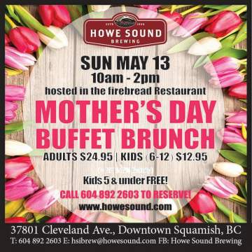 HSB Co.'s Annual Mother's Day Buffet Brunch @ Howe Sound Brewing