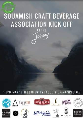 Squamish Craft Beverage Association Kick Off Party at Joinery @ Joinery Squamish