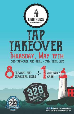Lighthouse Brewing Tap Takeover @ 328 Taphouse + Grill