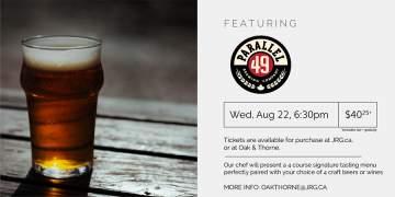4 Course Parallel 49 Brewing Beer or Wine Pairing Dinner @ Oak & Thorne        