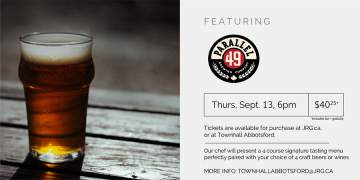 4 Course Parallel 49 Beer or Wine Pairing Dinner @ Townhall Public House Abbotsford | | |
