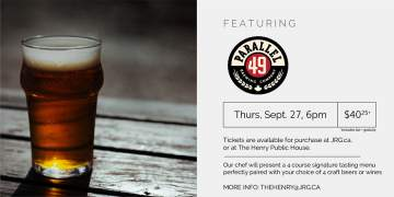 4 Course Parallel 49 Brewing Beer or Wine Pairing Dinner @ The Henry Public House | | |