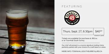 4 Course Parallel 49 Beer or Wine Pairing Dinner @ Townhall Public House South Surrey | | |