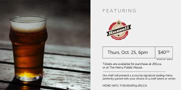 4 Course Russell Brewing Beer or Wine Pairing Dinner @ The Henry Public House | | |