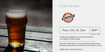 4 Course Russell Brewing Beer or Wine Pairing Dinner @ Micky's Irish Public House | | |