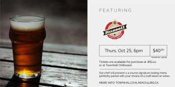 4 Course Russell Brewing Beer or Wine Pairing Dinner @ Townhall Chilliwack | | |