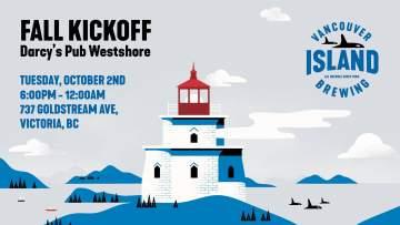 Vancouver Island Brewing Fall Kickoff Party - Westshore @ Darcy's Pub -Westshore
