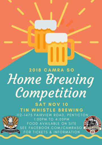 CAMRA SO 2018 Home Brewing Competition @ The Tin Whistle Brewing Company